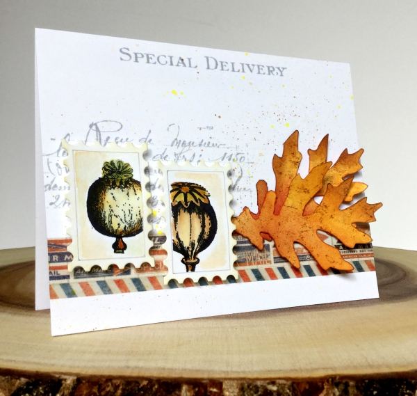Special Delivery Stamped A Card with Paper Artsy Stamps and Sizzix