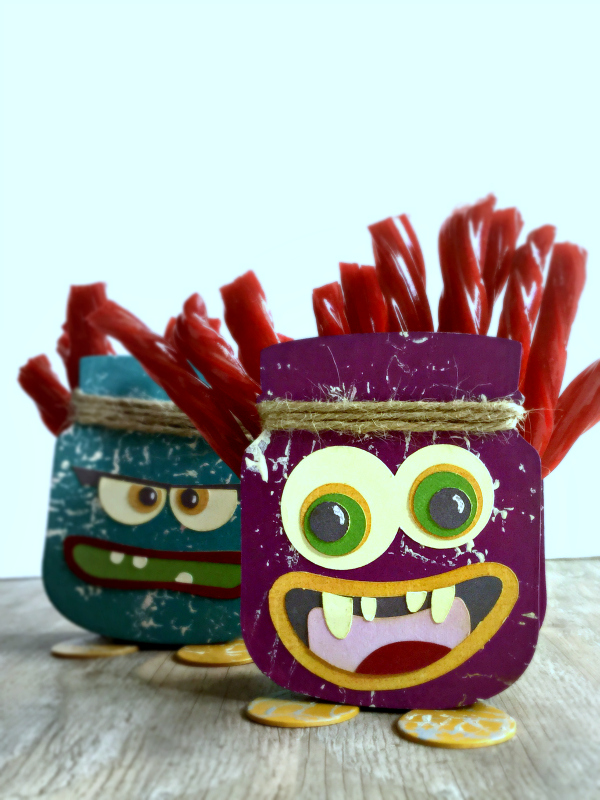 2 Sizzix Jar and Spoon Sizzix Monsters for Simon Says Stamp Monster Monday Challenge