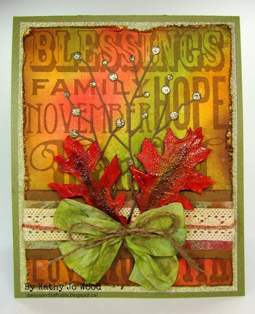 tim holtz ranger fall thanksgiving memory box technique card 1