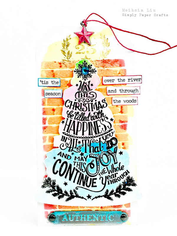 meihsia-liu-simply-paper-crafts-mixed-media-tag-simon-says-stamp-monday-challenge-tim-holtz-christmas-tree