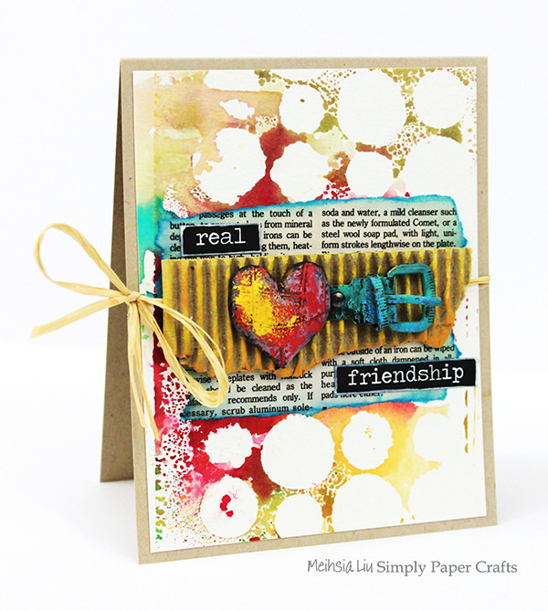 meihsia-liu-simply-paper-crafts-mixed-media-card-real-friendship-simon-says-stamp-monday-challenge-tim-holtz-prima-flowers