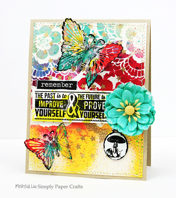 meihsia-liu-simply-paper-crafts-mixed-media-card-butterfly-tim-holtz-prima-flowers-simon-says-stamp