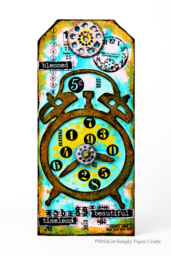 meihsia-liu-simply-paper-crafts-mixed-media-tag-circle-clock-simon-says-stamp-tim-holtz-600