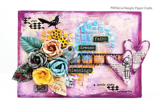 meihsia-liu-simply-paper-crafts-mixed-media-canvas-simon-ssays-stamp-prima-flowers-texture-1