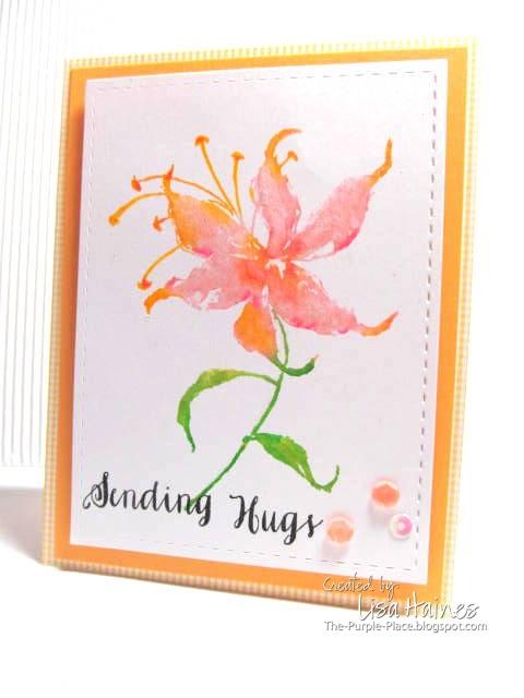 Lisa's card Hugs for SSS