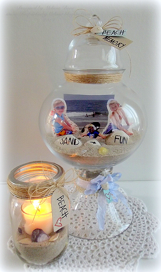 Beach Memory Jar and Candle-001