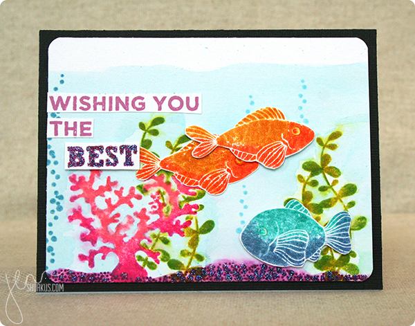 created with My Favorite Things Sea Life and BD Chalkboard Greetings | by Jenn Shurkus