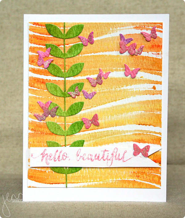 Gelato background with Memory Box and Simon Says Stamp supplies, card by Jenn Shurkus | shurkus.com