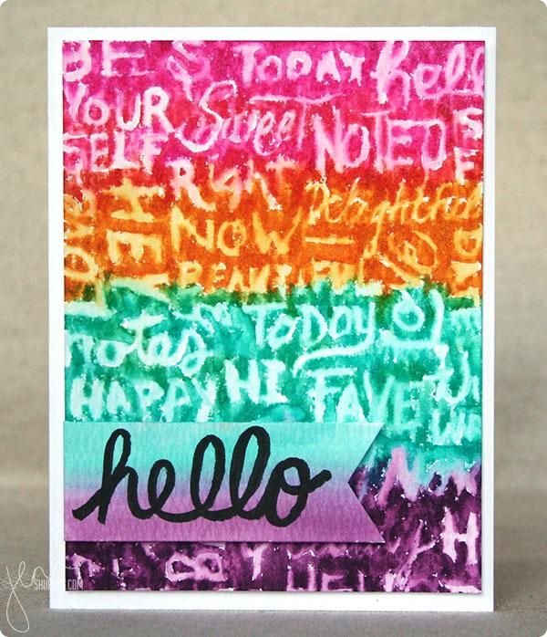 Hero Arts/Basic Grey Highline Chalkboard Stamp, Card by Jenn Shurkus | shurkus.com