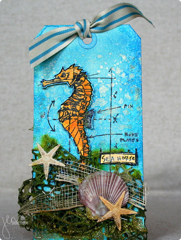 Tag It with Tim Holtz Nautical Blueprints, by Jenn Shurkus | shurkus.com