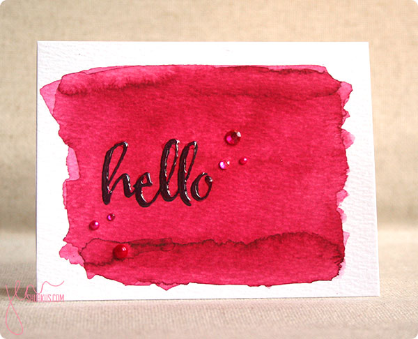 Watercolor card by Jenn Shurkus | shurkus.com