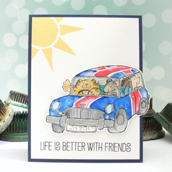 Better With Friends by Jennifer Ingle for the Simon Says Stamp Wednesday Challenge #JustJingle #SimonSaysStamp #PennyBlack