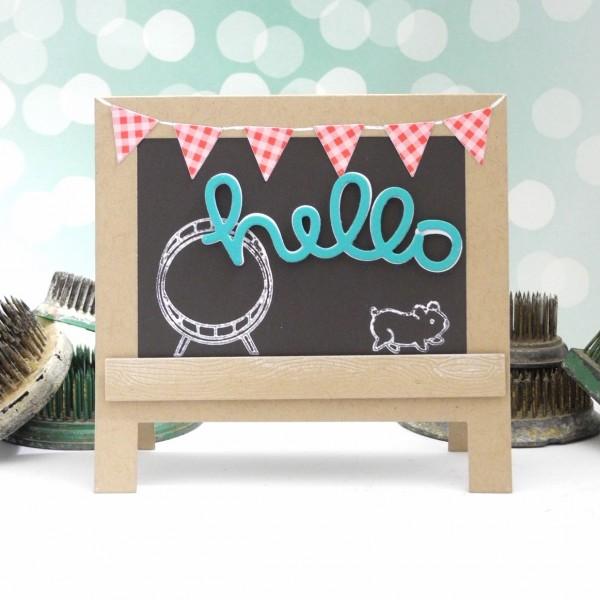 Hamster Hello by Jennifer Ingle #JustJingle #SimonSayStamp #LawnFawn #MFTStamps
