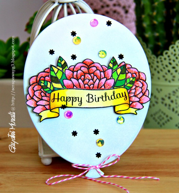 edited happy birthday balloon card