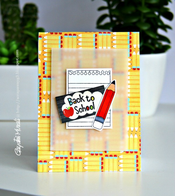 Back to school card #1 smaller