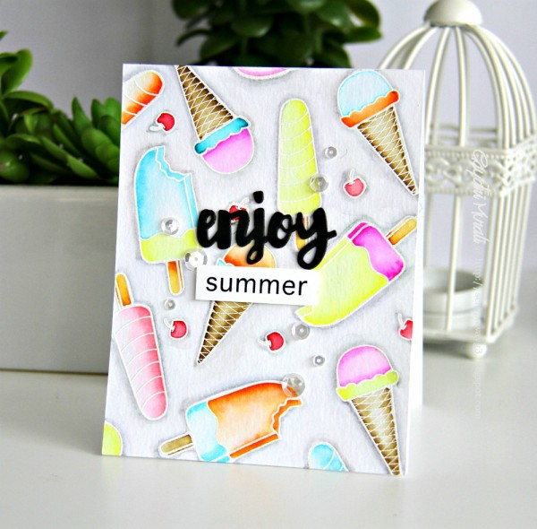 Enjoy Summer card smaller