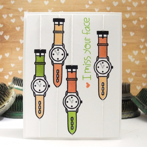 I Miss Your Face by Jennifer Ingle for the Simon Says Stamp Wednesday Challenge: Tie It Up! #JustJingle #SimonSaysStamp #PaperSmooches