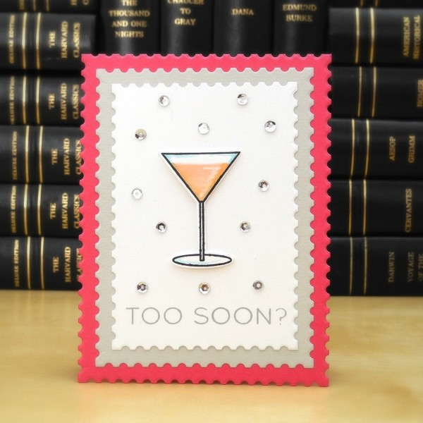 Too Soon? By Jennifer Ingle for the Simon Says Stamp Wednesday Challenge #JustJingle #SimonSaysStamp #cards #martini