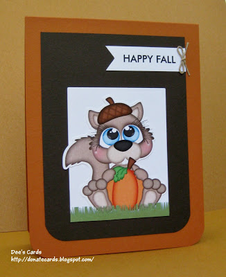 Dees Cards Fall Squirrel