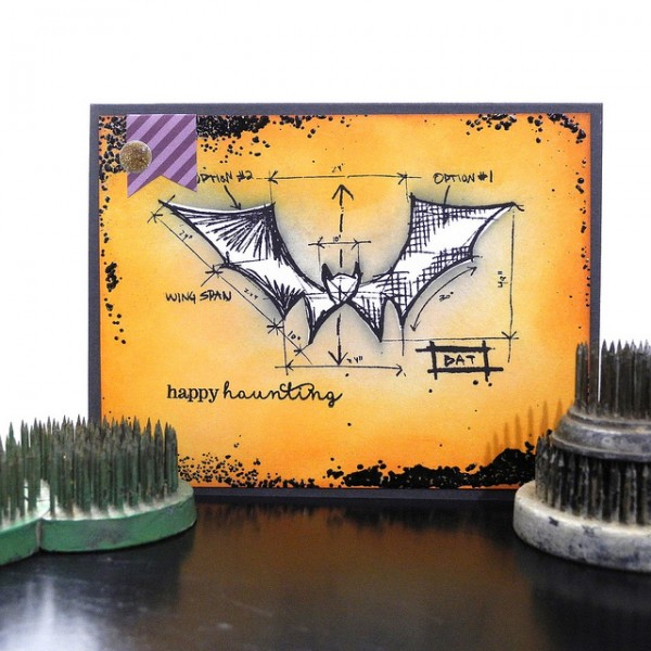Happy Haunting by Jennifer Ingle #SimonSaysStamp #TimHoltz #Stampendous #JustJingle