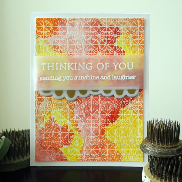 Thinking of You by Jennifer Ingle #SimonSaysStamp #JustJingle #HeroArts #Cards