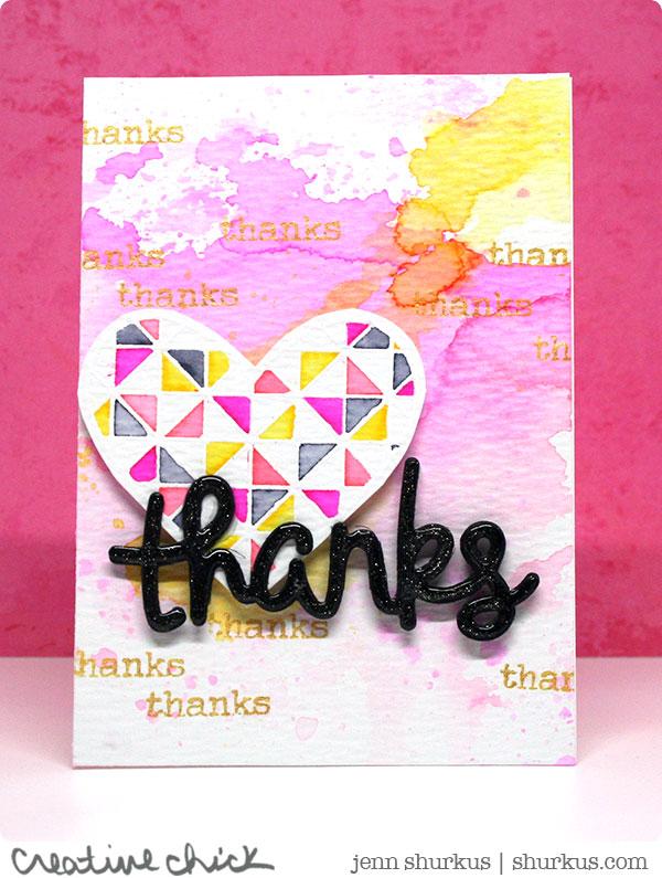 Thanks/Thanksgiving, Featuring Simon Says Stamp | shurkus.com