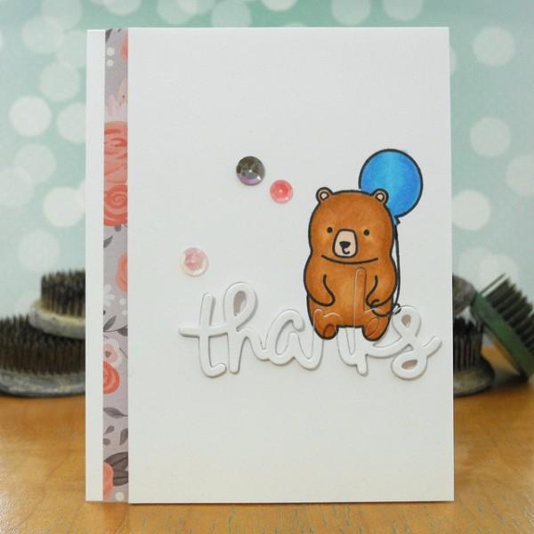 Bear Thanks by Jennifer ingle #SimonSaysStamp #LawnFawn #SpectrumNoir #JustJingle
