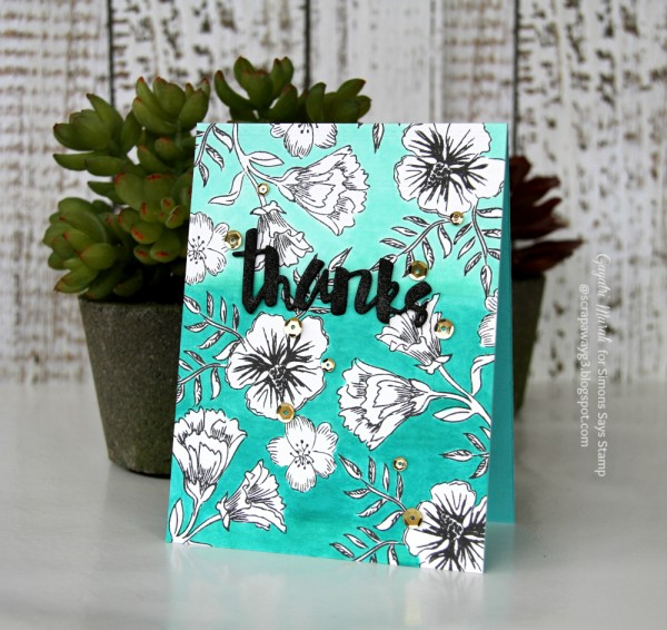 Thanks ombre card smaller