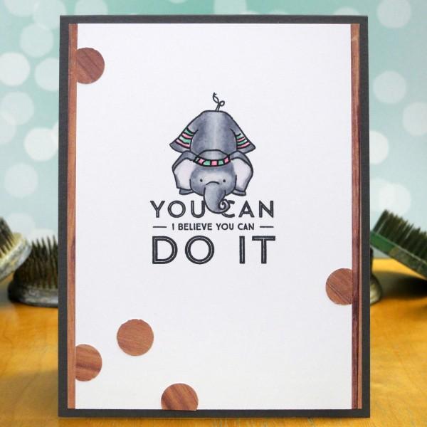 You Can Do It by Jennifer Ingle #SimonSaysStamp #WPlus9 #JustJingle