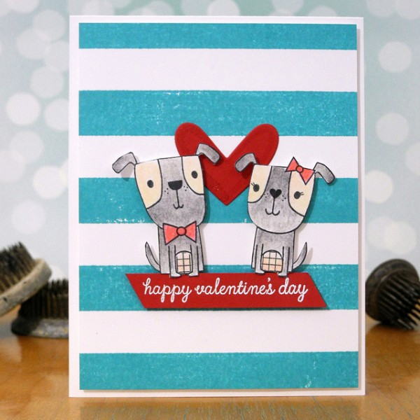 Puppy Love by Jennifer Ingle #SimonSaysStamp #ReverseConfetti #JustJingle