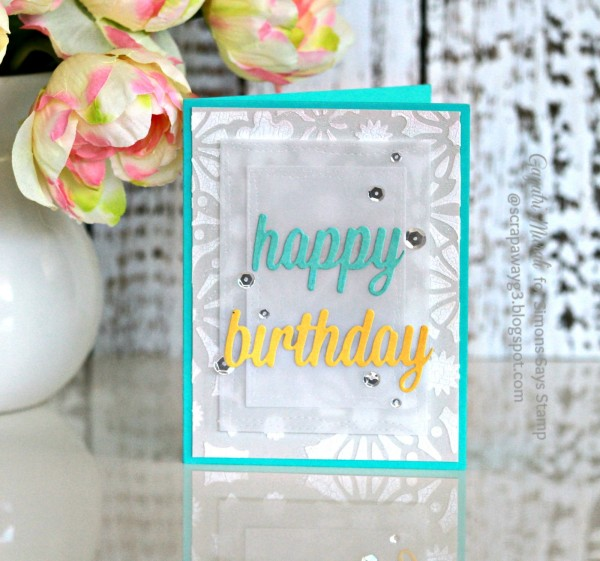 Happy Birthday card smaller