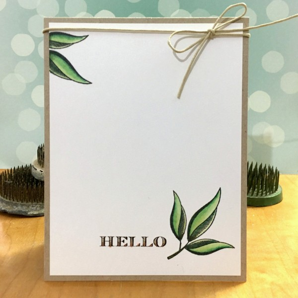 Hello by Jennifer Ingle #SimonSaysStamp #JustJingle #ClearlyBesotted