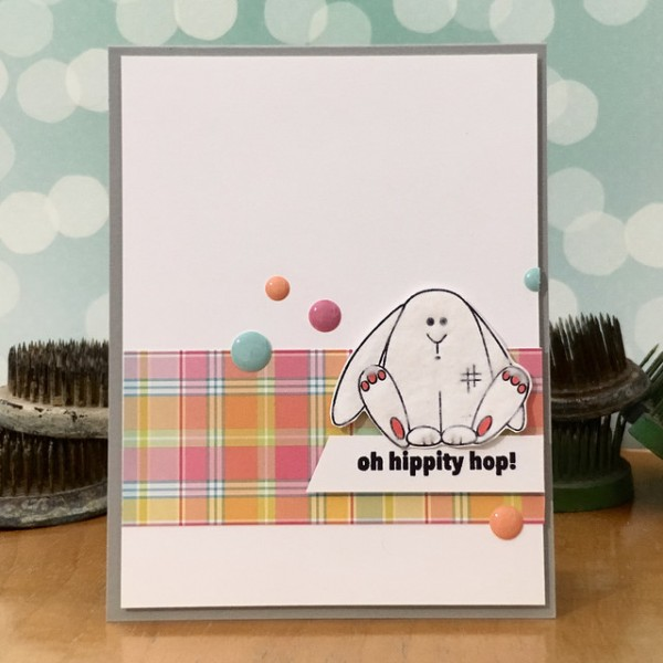 Fluffy Bunny by Jennifer Ingle #SimonSaysStamp #JustJingle #LawnFawn