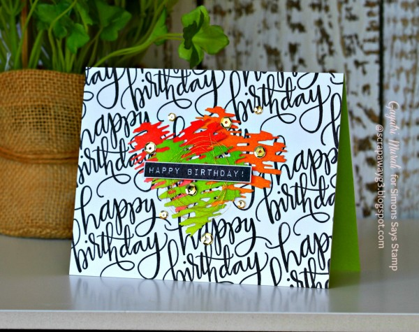 Happy Birthday landscape card smaller