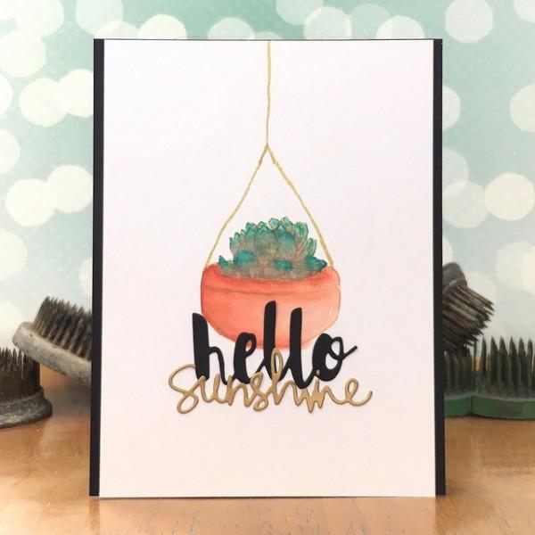 Hello Sunshine by Jennifer Ingle #SimonSaysStamp #HeroArts #JustJingle