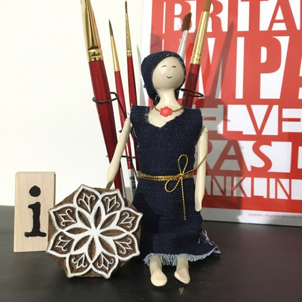 Art Doll in Denim by Jennifer Ingle #SimonSaysStamp #JustJingle #Prima #ArtDoll