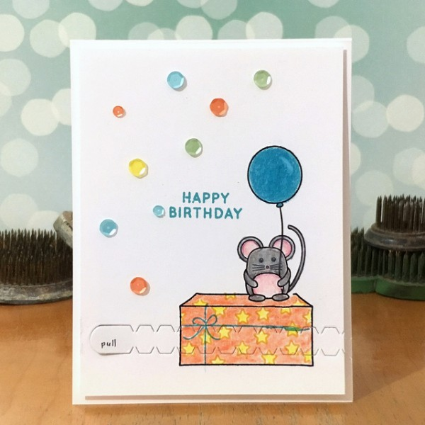 Birthday Mouse by Jennifer Ingle #SimonSaysStamp #TechniqueTuesday #justJingle