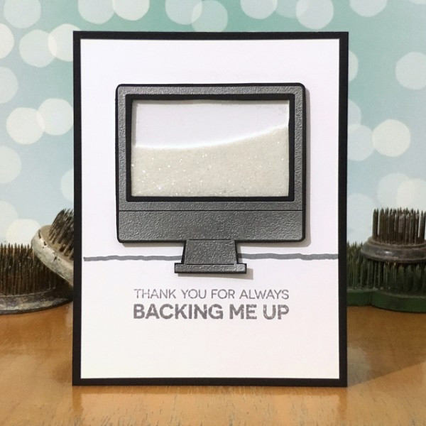 Thanks for Backing Me Up by Jennifer Ingle #SimonSaysStamp #MFTStamps #TimHoltz #JustJingle