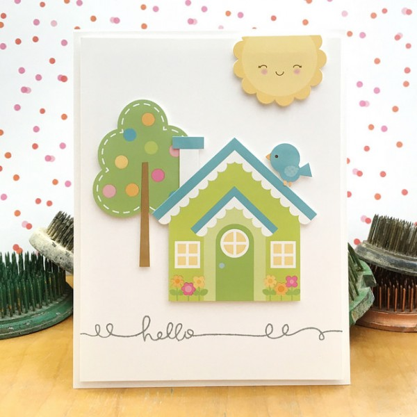 Hello by Jennifer Ingle #SimonSaysStamp #DoodlebugDesigns #JustJingle