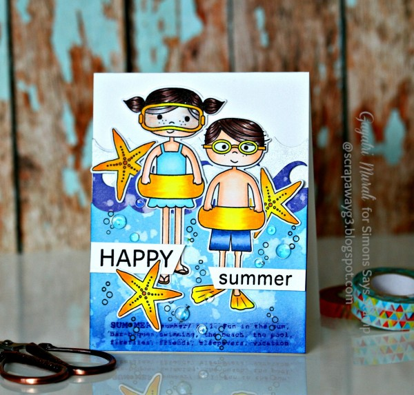 Happy Summer card #1 smaller