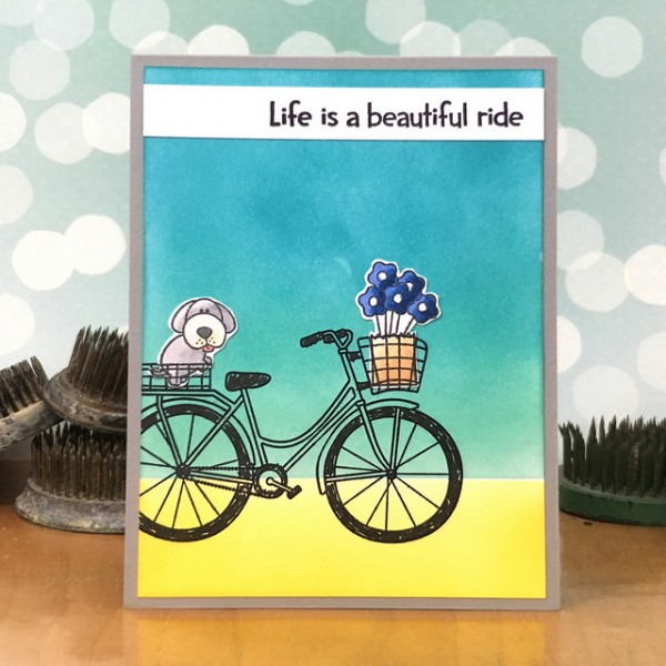 Life Is a Beautiful Ride by Jennifer Ingle #SimonSaysStamp #TimHoltz