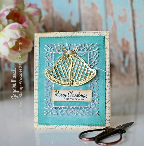 Blue Merry Christmas smaller card