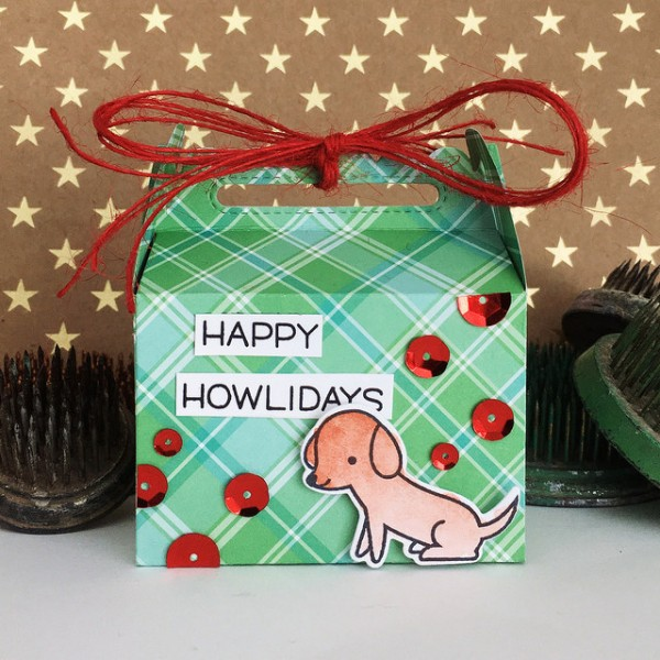 Happy Howlidays Treat Box by Jennifer Ingle #JustJingle #SimonSaysStamp #LawnFawn