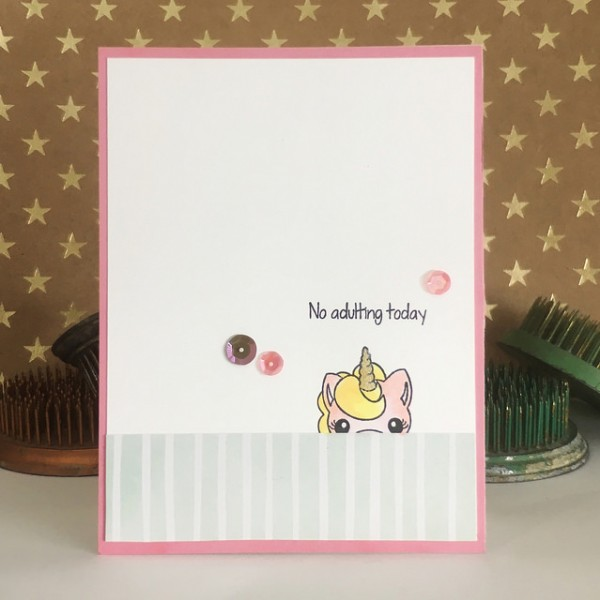 No Adulting by Jennifer Ingle #JustJingle #SimonSaysStamp #PinkAndMain