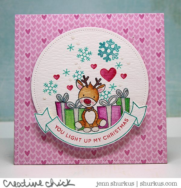 Simon Says Stamp Wednesday Challenge: Critters, featuring Simon Says Stamp December Card Kit | shurkus.com