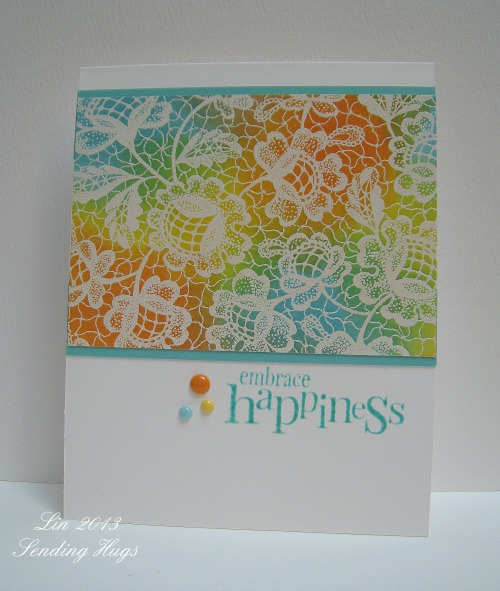 Stamptember Sept 7, Embrace Happiness