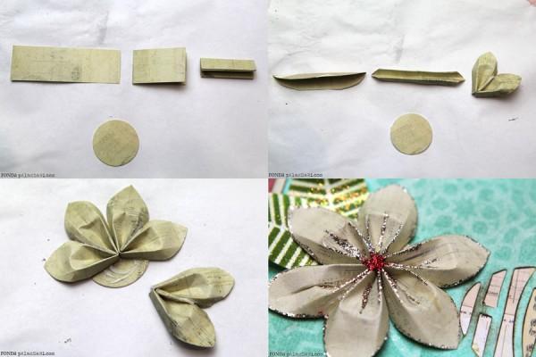 Ronda Palazzari Paper Poinsettia