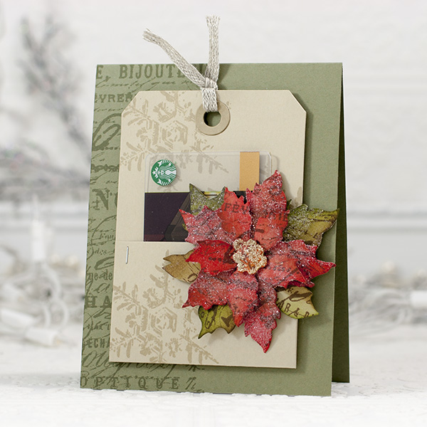 Shari Carroll Poinsettia Card
