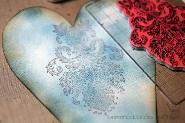Tammy Tutterow   Felt Flower Gift Heart 4