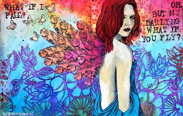 What if you fly.art journal pages - Birgit Koopsen